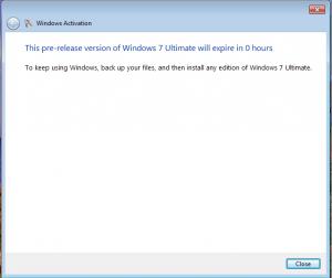 Windows error message …
